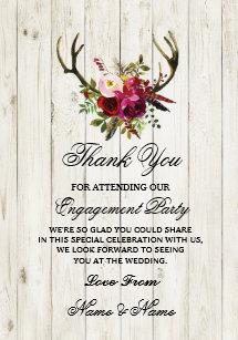 Engagement Thank You Cards Zazzle