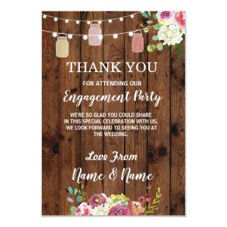Thank You Card Engagement Wedding Jars Floral