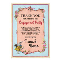 Thank You Card Engagement Wonderland Rabbit