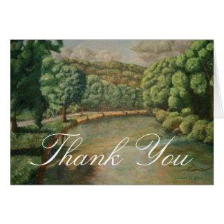 Thank You card featuring a fine art landscape