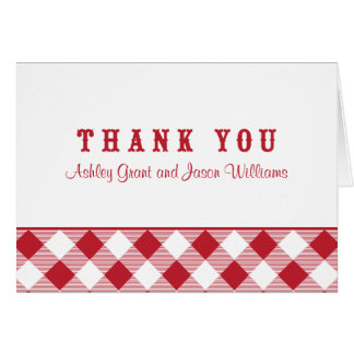 Thank You Card Folded | Red Gingham BBQ