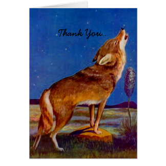 Thank You Card For a howling good time! Coyote