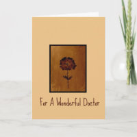 Thank You Card For A Wonderful Doctor
