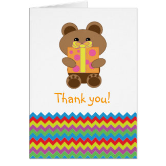 "Thank You Card for ""Beary Special"" Birthday"