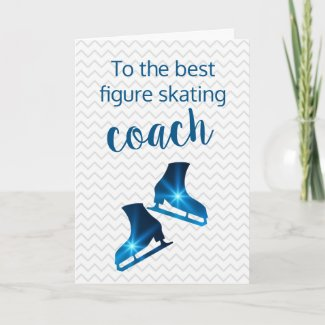 Thank you card for best figure skating coach