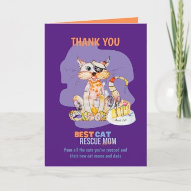 Thank You Card For CAT RESCUE MOM Foster Carer