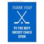 Thank you card for hockey coach | Customizable