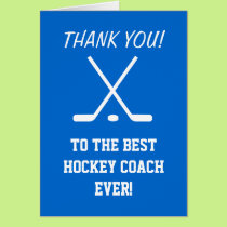 Thank you card for hockey coach | Customizable