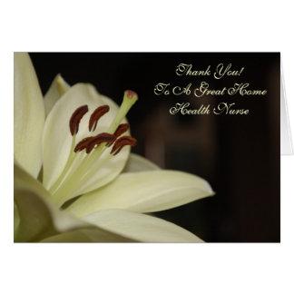 Thank You Card For Home Health Nurse