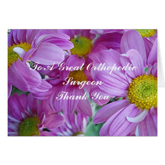 Thank You Card For Orthopedic Surgeon