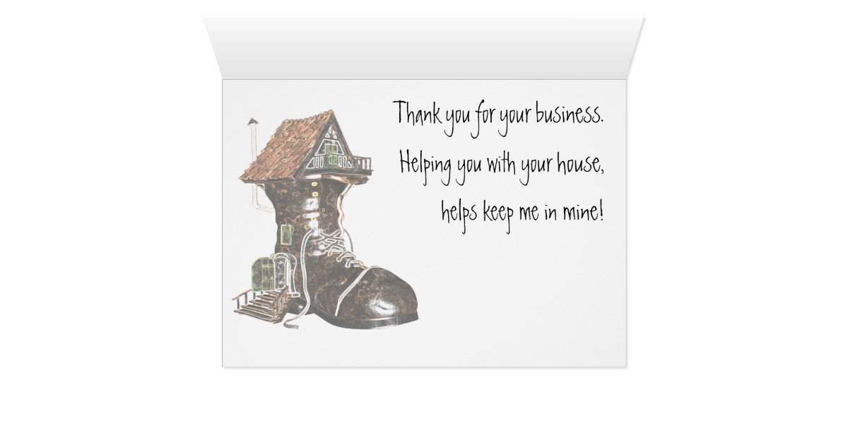 Thank You Card for Realtor or Mortgage officer | Zazzle