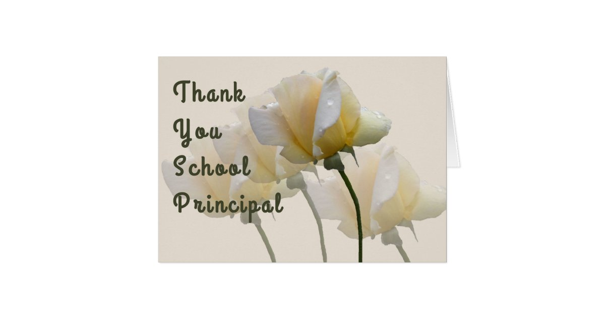Thank You Card For School Principal Zazzle Com