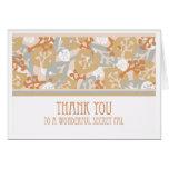 Thank You Card for Secret Pal, Leaves & Plants