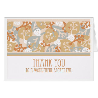 Thank You Card for Secret Pal, Leaves & Plants