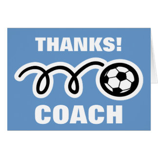 Thank you card for soccer coach