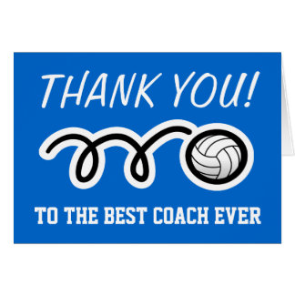Thank you card for volleyball coach | Customizable