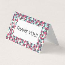Thank you card - geometric pattern editable text