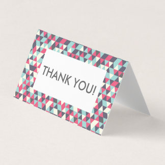 Thank you card - geometric pattern editable text
