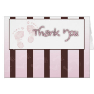 Thank you card - girl baby shower