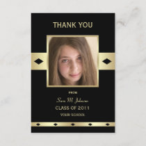 Thank You Card Graduation Flat Invitation Card