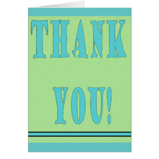 Thank You Card-GreenAqua Card