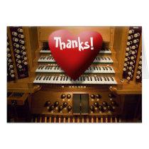 Thank you card - heart on keys