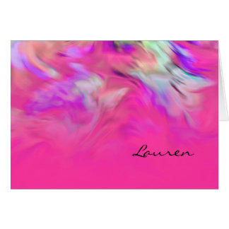 Thank You Card Hot Pink and Purple Tye Dye Design