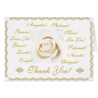 Thank you card in 13 languages