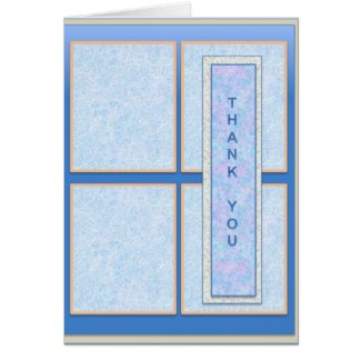 Thank You Card in Blue