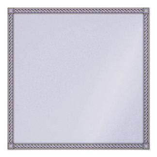 "Thank you card 5.25"" square invitation card"