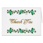 Thank you card Irish theme Celtic cross