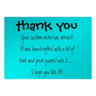 Thank you Card Large Business Card