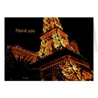 Thank you Card Las Vegas Eiffel Tower