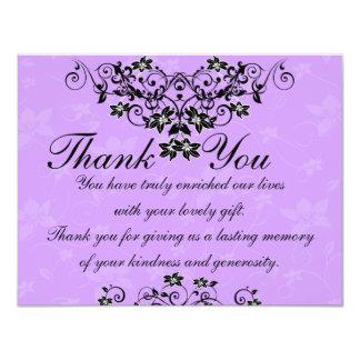 Thank You Card - Lavender Purple Wedding