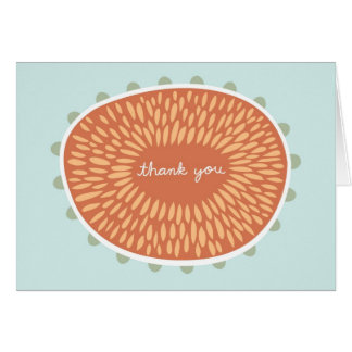 Thank you card - light blue
