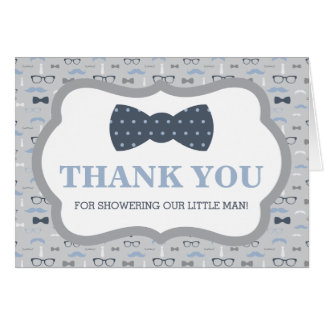 Thank You Card, Little Man, Bow Tie