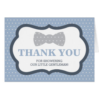 Thank You Card, Little Man, Bow Tie Card