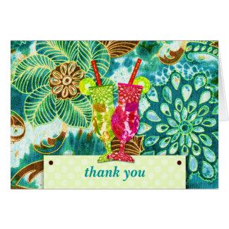 THANK YOU CARD LIVELY HAWAIIAN