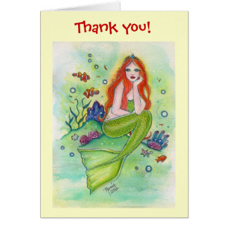 Thank you card mermaid By Renee Lavoie