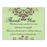 Thank You Card - Mint Green & Chocolate Brown