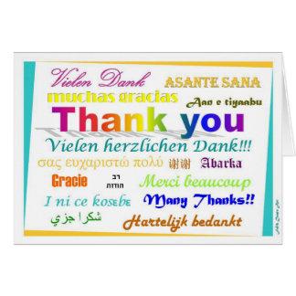 Thank You Card - multilingual