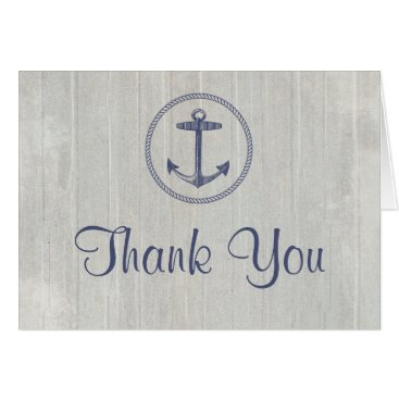 Beach Themed Thank You Card | Nautical Weathered Wood