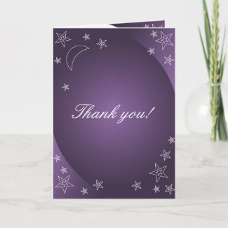 Shinny stars thank you cards