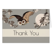 Thank You Card Night Owl Custom Template