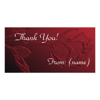 Thank You Card Pack of 10 - Red Rose