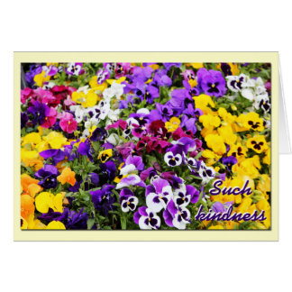 Thank You Card--Pansies Card