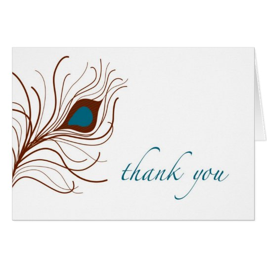 thank you card {peacock feather}