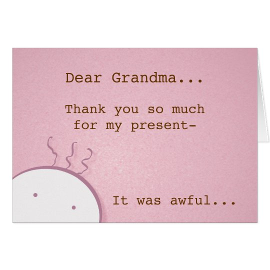 Thank-You Card pink