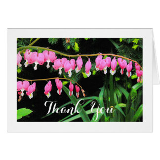 THANK YOU CARD/PINK BLEEDING HEARTS/SO THOUGHTFUL CARD