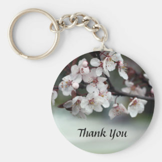 thank you card plum flowers keychains